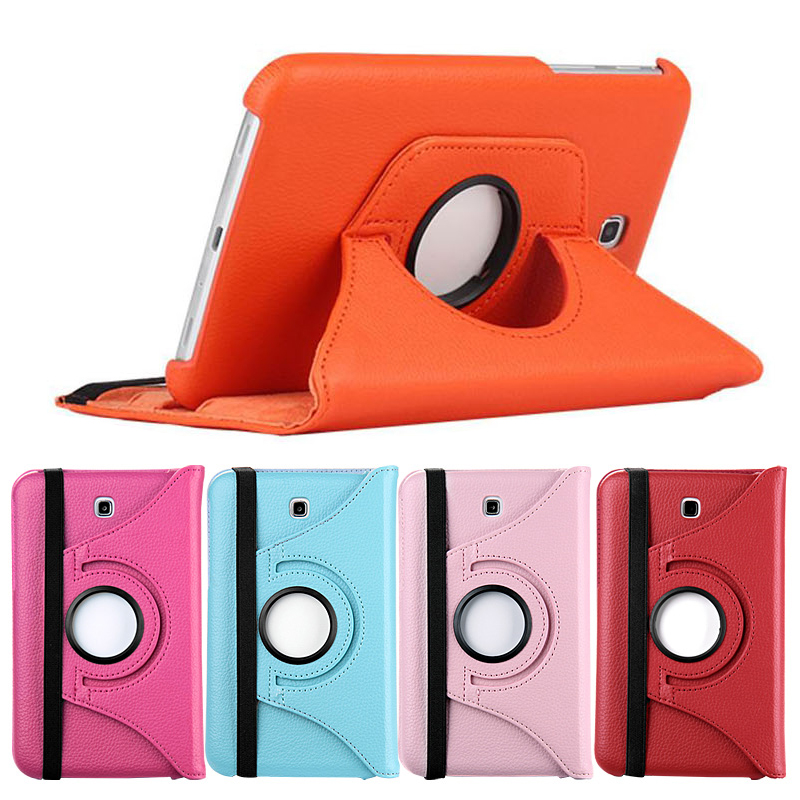 360 Degree Coque For Samsung Tab 3 T210 Case 7'' Rotary PU Leather Flip Stand Funda for Samsung Galaxy Tab 3 T210 T211 7'' Case