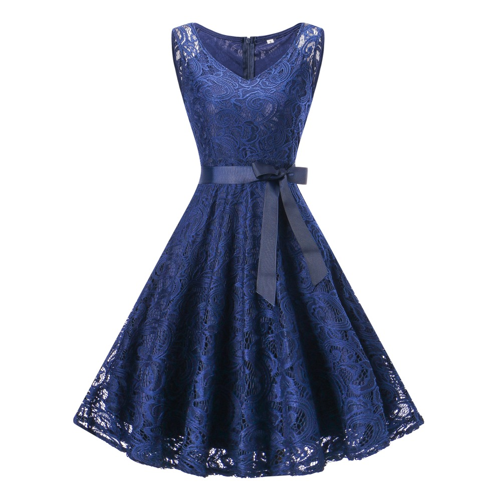 15-20Yrs Teenagers Girls Dress For Christmas Party Dress Wear High quality Sleeveless Lace V Neck Girls Clothing For Summer 18