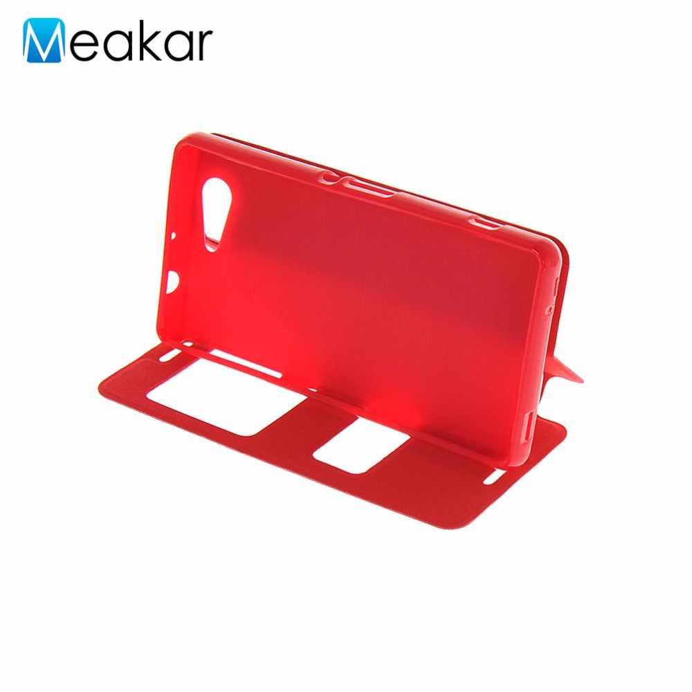 Чехол из искусственной кожи 4,6 для sony Xperia Z3 Compact чехол для sony Xperia Z3 Compact Z3 Mini чехол для задней панели сотового телефона чехол