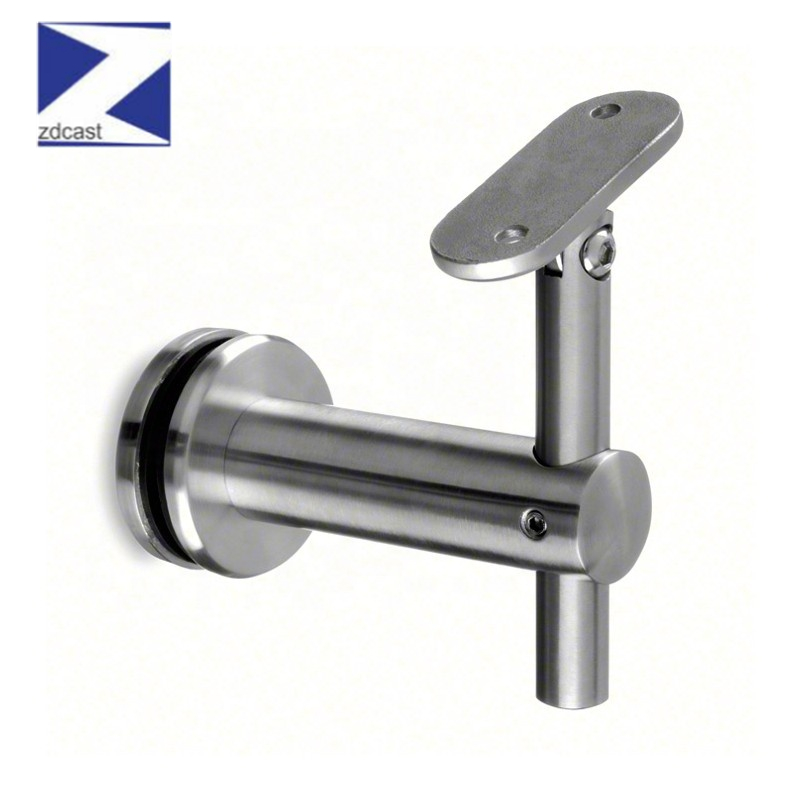 Solid Stainless Steel Handrail Bracket Stent Support Wall Support   Flat Handrail For Stairs   Code Compliant   Stainless Steel Flat Bar   Type 2   Top   Flat Iron