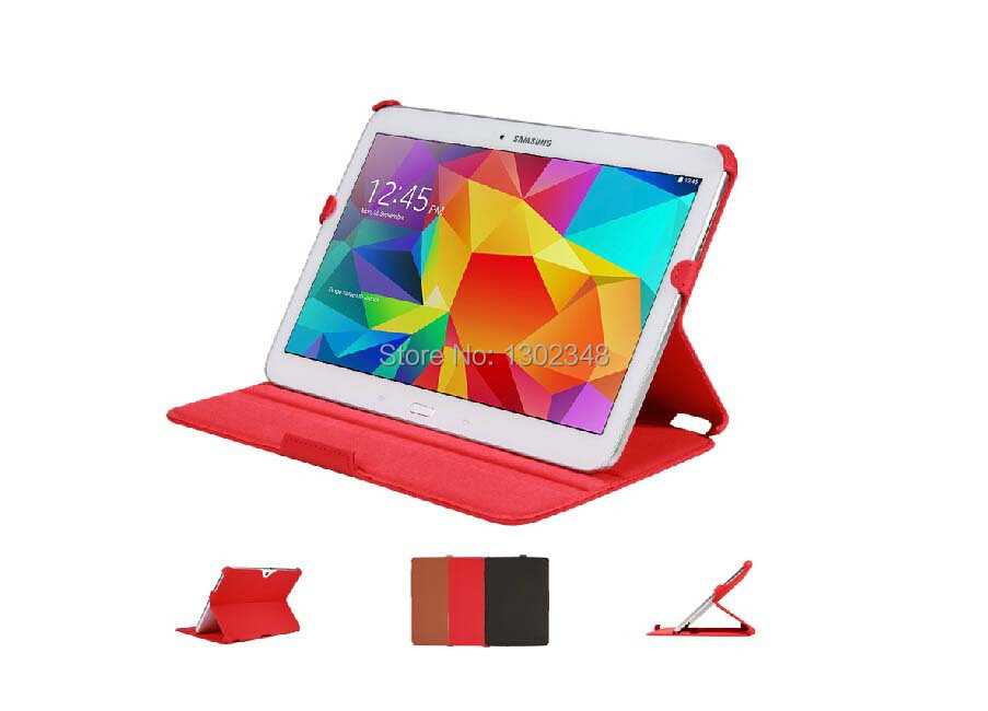 Luxury Ultra Slim Heat Setting Folio Stand Leather Cover Protective Shell Case for Samsung Galaxy Tab 4 10.1 T530 T531 T535 ultra slim folio stand print flower pu leather case protective cover for samsung galaxy tab s 8 4 t700 t701 t705 t705c tablet