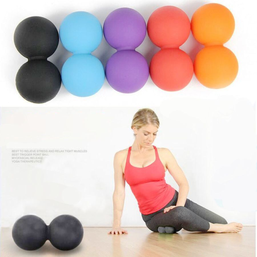 Release Excise Mobility Tools New Silicone Elastic Peanut Yoga Massage Ball Rollers Back Trigger Point Therapy Sports Gym
