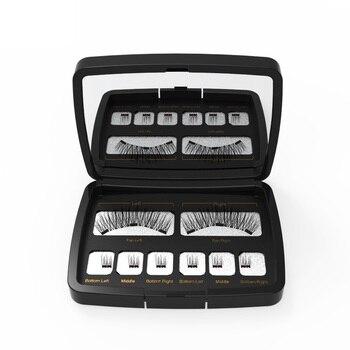Genailish 8pc 3D Magnetic Eyelashes with Mirror Acrylic Box False Eyelashes Tweezer Makeup Magnetic Eye Lashes Extension SCT-602 3