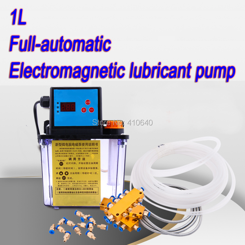 Automatic 1L Electromagnetic Lubricant Pump For CNC Router And Lathe Guide Oil Injection Pump FREE SHIPPING BY DHL free shipping bf1ak90z bfiak90z fuel injection pump suit for changfa changchai and any chinese brand