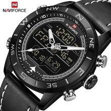 NAVIFORCE Роскошные Брендовые мужские модные спортивные часы мужские кварцевые аналоговые цифровые часы кожаные армейские военные часы Relogio Masculino