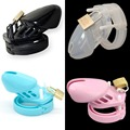 CB6000s Silicone Chastity Cage Male Small Chastity Device with Lock Rubber Silicon Penis Sleeve Cock Ring Cage Sex Toy for Man