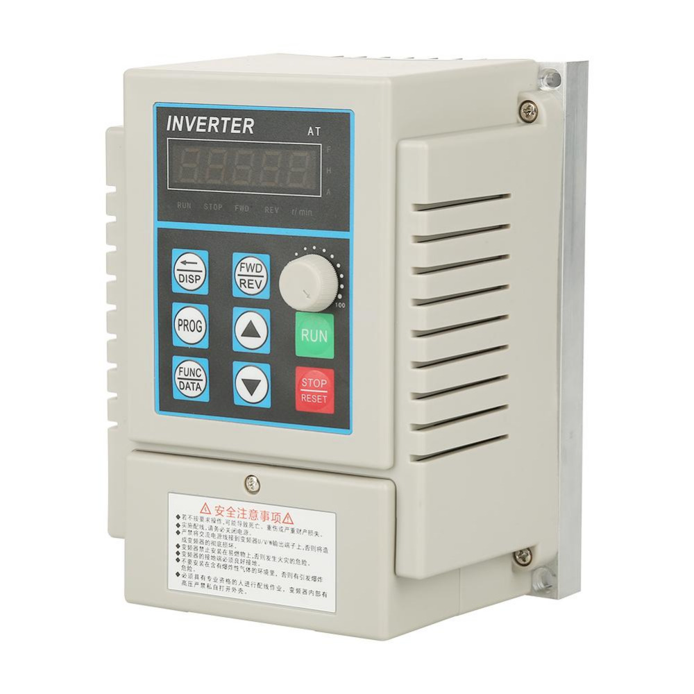 цена на AC 220V 0.75kW 5A Inverter Converters Variable Frequency Drive VFD Speed Controller for Single-phase AC Motor
