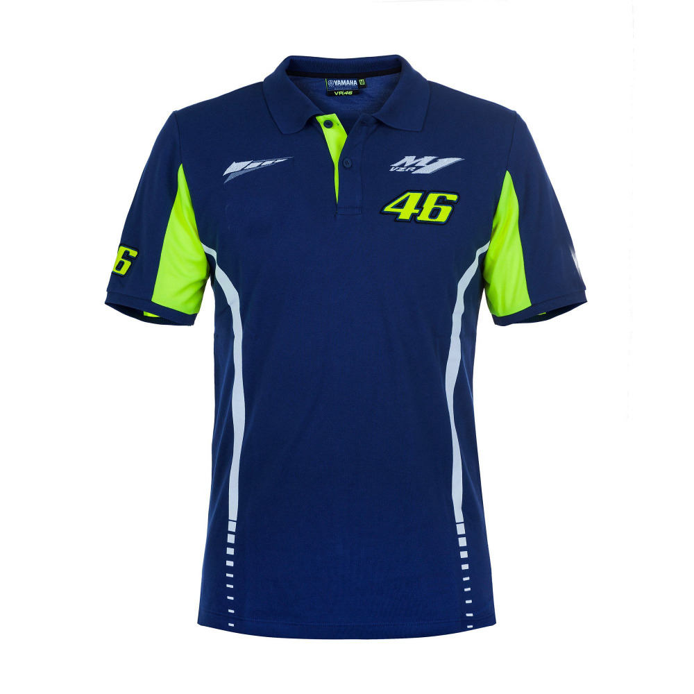 High quality mens fashion leisure sports golf motorcycle POLO cotton T-shirt bule for M1 Rossi VR46 MOTOGP t-shirt 24