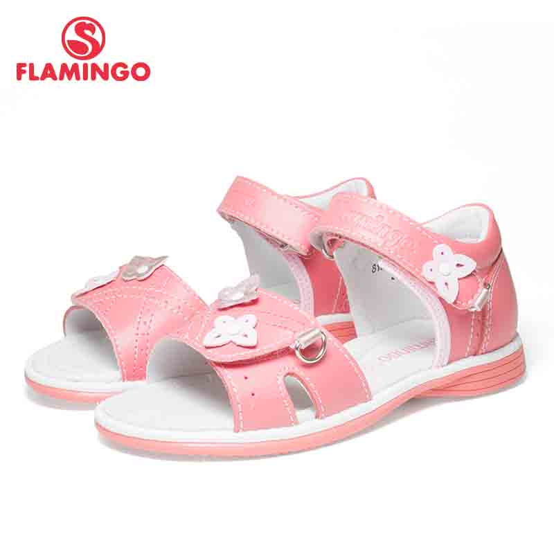 FLAMINGO Brand 2018 Butterfly decoratio Summer Hook&Loop Casual Sandals Leather Microfiber Outdoor Little kids shoe 81S-XY-0822 FLAMINGO Brand 2018 Butterfly decoratio Summer Hook&Loop Casual Sandals Leather Microfiber Outdoor Little kids shoe 81S-XY-0822