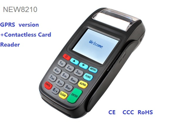 2,8 дюймов платежный терминал Мобильный POS терминал 8210 для с NFC Reader GPRS связи NEW8210