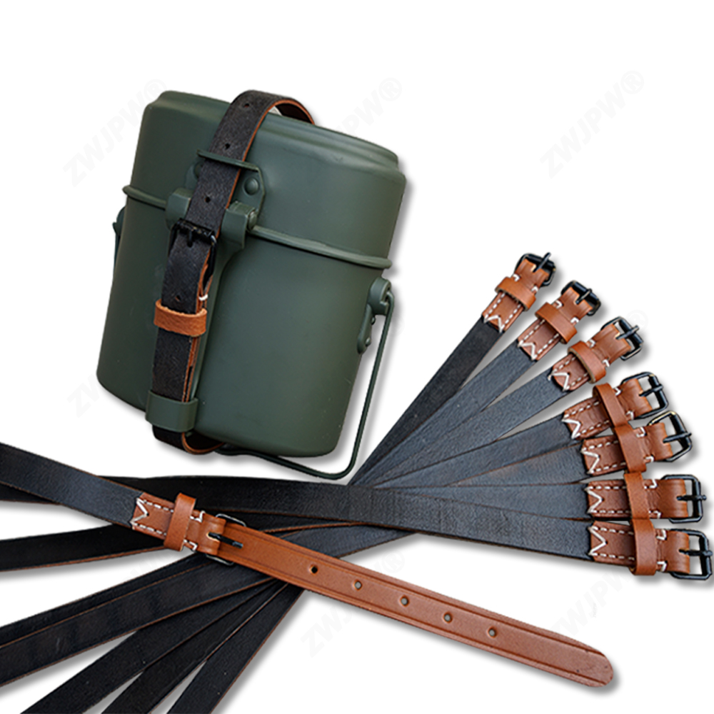 WWII WW2  MILITARY ARMY Lunch Box Leather Strap  Only Canteen Leather Strap No Canteen