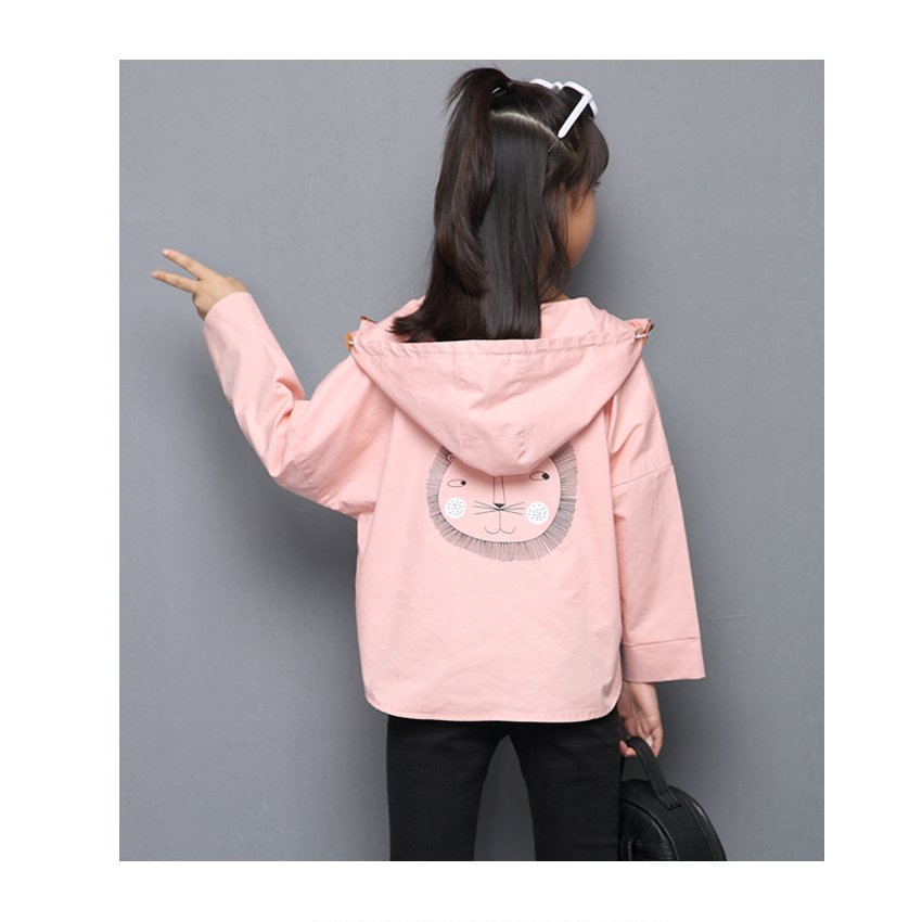 Girls Coats for Children Clothes Spring New Casual Simple Long Sleeve Outwears Kids Cartoon Candy Outfits 6 8 10 12 Years