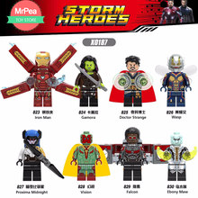 ltest marvel's super heroes for legoings spider man, iron man, thor avengers infinity war falcon model building blocks toy(China)