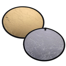 31.5 inch/80cm Handhold Multi Collapsible Portable Disc Light Reflector for Photography 2in1 Gold and Silver