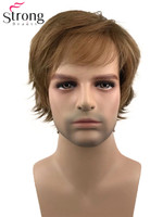 StrongBeauty Short Full Wigs Synthetic Wig for Men