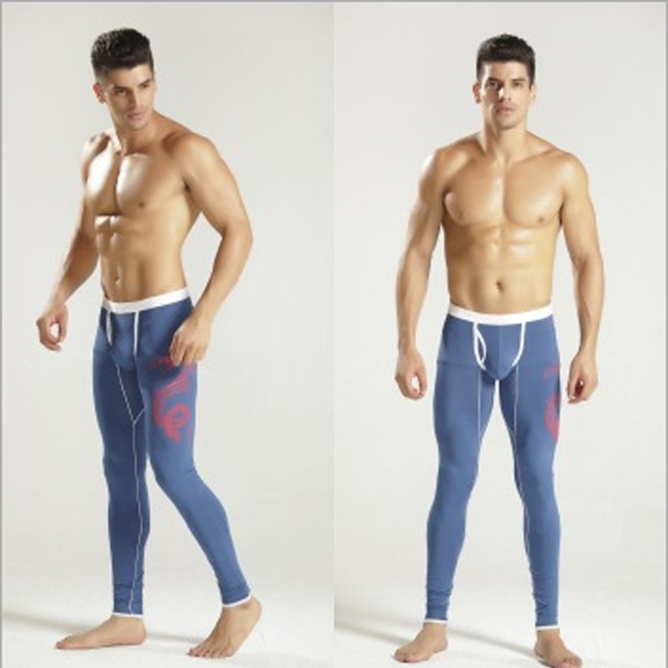 Mens Modal Thermal Underwear Long Johns Warm Thicken Leggings Pants Dragon Printed Autumn Winter Sleepwear U Convex Pajamas