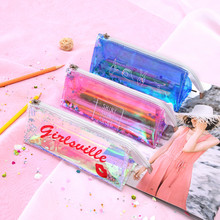 Stationery Pencil Case Colorful Pencil Bag School Stationery Travel Makeup Bag High Capacity  D329