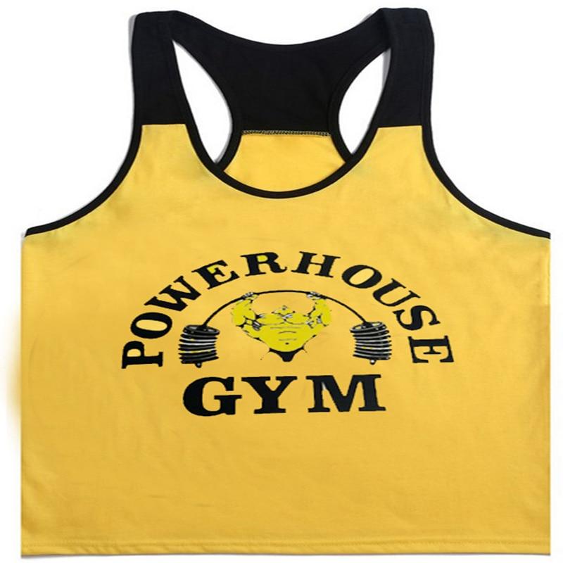 Tank     Top   Men Sleeveless Shirt gallus Bodybuilding Stringer Fitness Men's Cotton Singlets Muscle Clothes Workout Vest