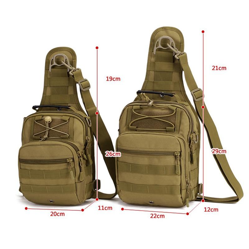 Adults Nylon Oxford Fabric Multifunctional Chest Shoulder Satchel Bag Tactical Sling Pack Unisex Camping Shoulder Pack