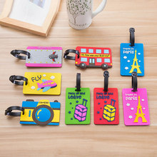 Plastic Luggage tag cartoon Travel Luggage Suitcase Baggage Travel bag Boarding tag Lovely Address Label Name ID Tags