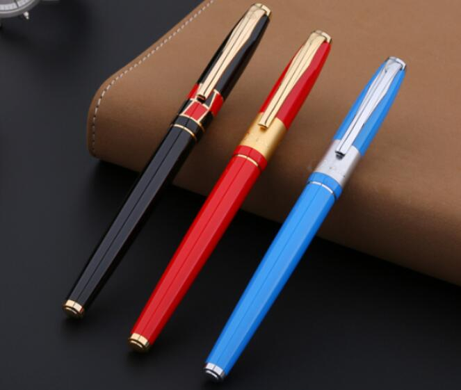 Picasso Pimio metal ink fountain pen for school supplies elegant stationery office high quality luxury gift pens for writing picasso urban fountain pen white pens silver clip picasso pen school supplies stationery