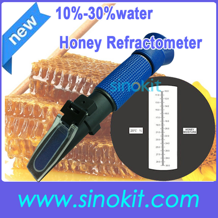 Cheaper Honey 10%-30%water Plastic Hand Blue grip Refractometer without calibration oil P-RHF-30ATC  цены
