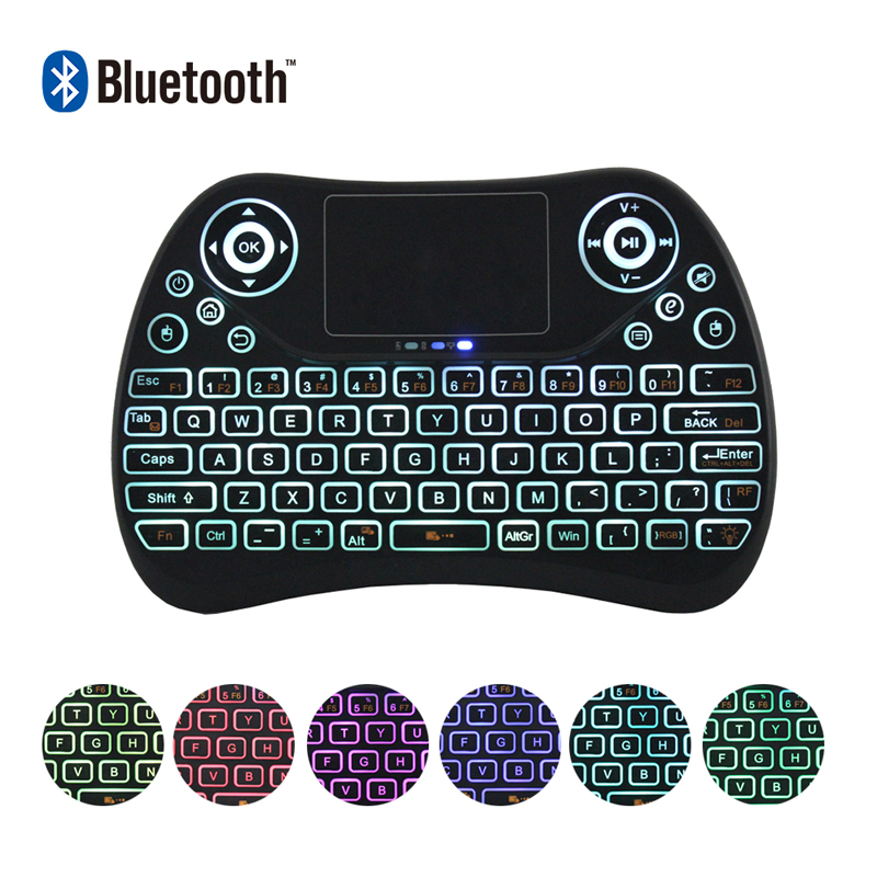 <font><b>Bluetooth</b></font> Backlight Mini Wireless Keyboard T2 Remote Control Fly <font><b>Air</b></font> <font><b>Mouse</b></font> Flat Touchpad 433mhz Remote Control For Set Top Box