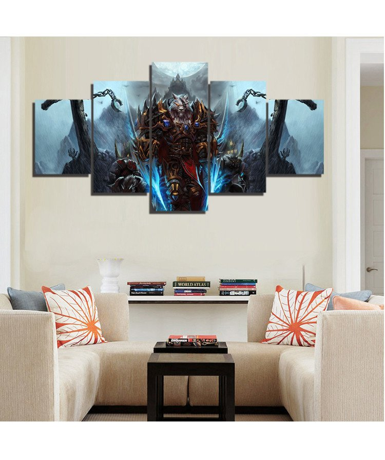Buy canvas painting wall art 5 pieces for Home decoration pieces