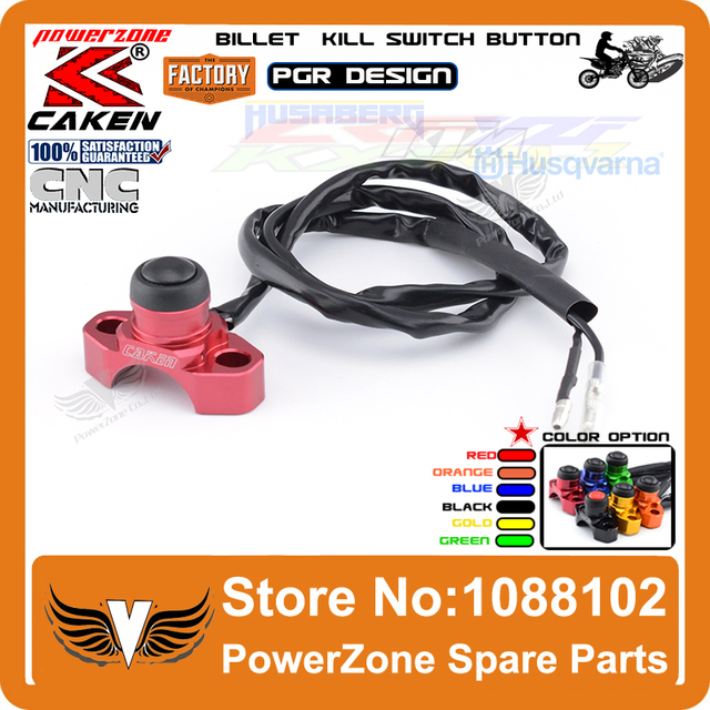 CNC Billet Universal Engine Stop Start Kill Switch Button Fit CR125 CR150 CR250 CR500 CRF230 CRF250 CRF250X CRF450R Motorcycle
