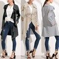 Европа Стиль Новая Мода Женщин Случайные Свободные Длинные Ветровка Мыс Пальто Элегантная Дама Нерегулярные Модные Кардиганы Куртки Пальто 2016