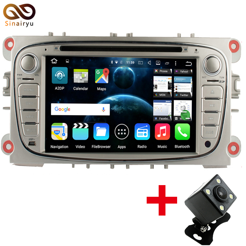 Sinairyu Two Din 7 Inch Car DVD Player Android 6 0 For FORD Focus S MAX