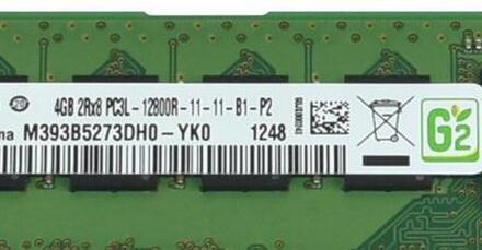 M393B5273DH0-YK0 for 4GB(1*4GB) 2Rx8 PC3L-12800R DDR3-1600 ECC REG 1.35V RDIMM Memory new condition with one year warranty