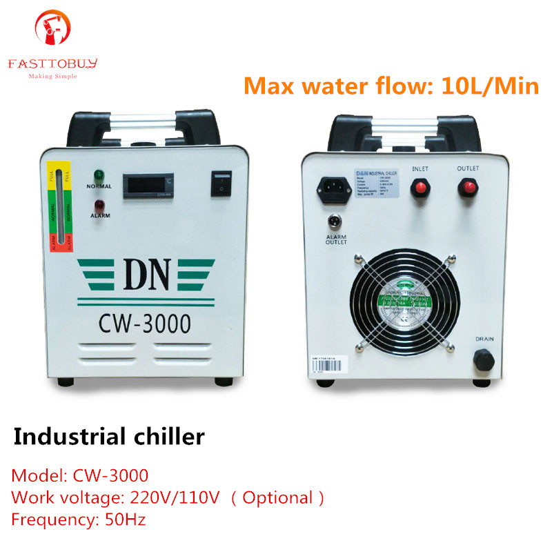 220V/110V Industrial Water Chiller 3KW 10L/Min for Laser Engaving Machine Spindle UV Light LED Solidify Equipment|Power Tool Accessories| |  - title=