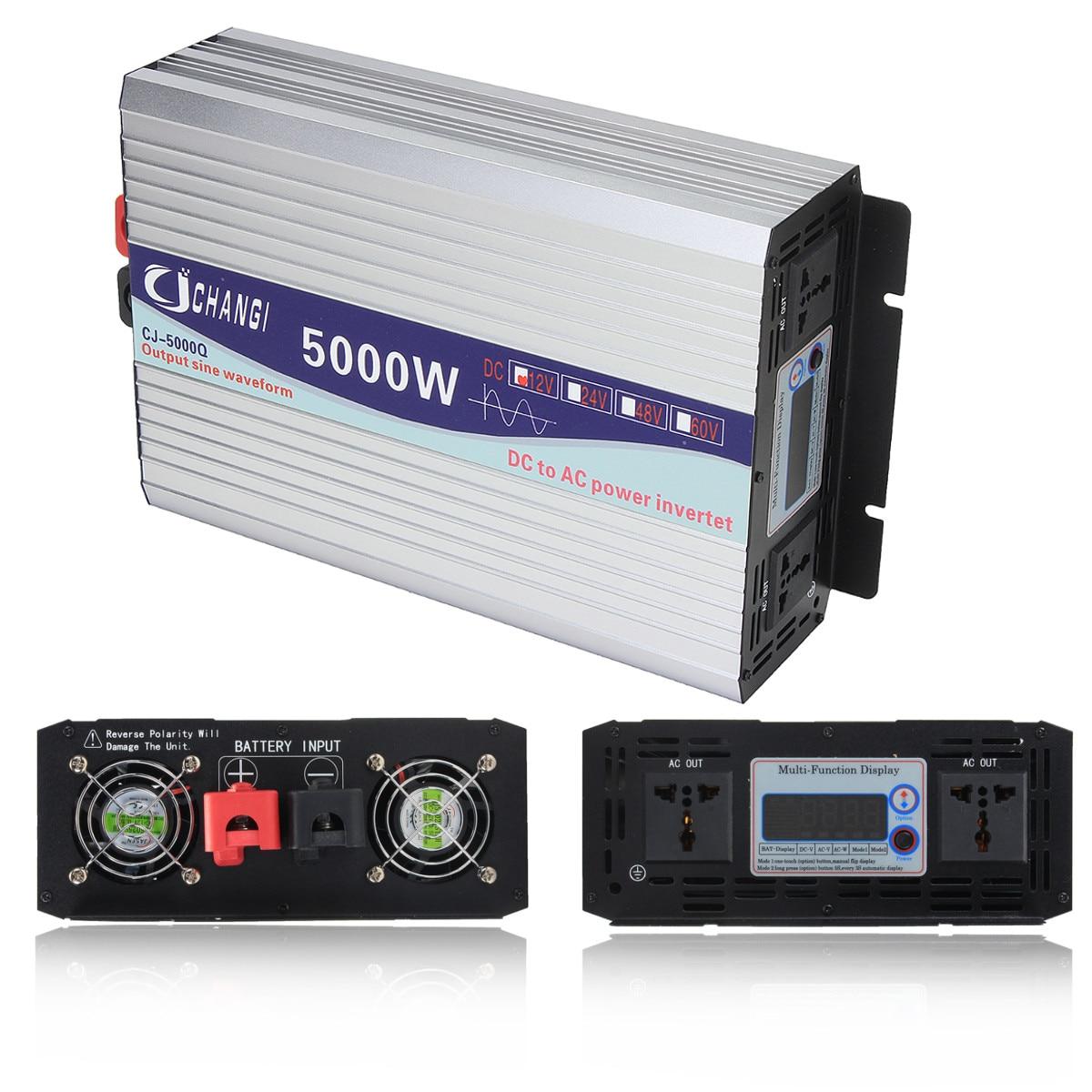 Écran Intelligent pur onduleur à onde sinusoïdale 12 V/24 V à 220 V 3000 W/4000 W/5000 W/6000 W convertisseur adaptateur écran LCD - 5