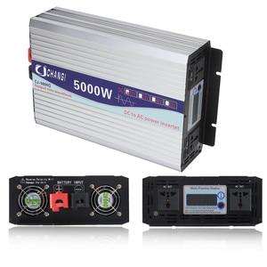 Image 5 - Inverter 12V 220V 3000W/4000W/5000W/6000W Intelligent Voltage transformer Pure Sine Wave Solar Power Inverter 12V/24V To 220V