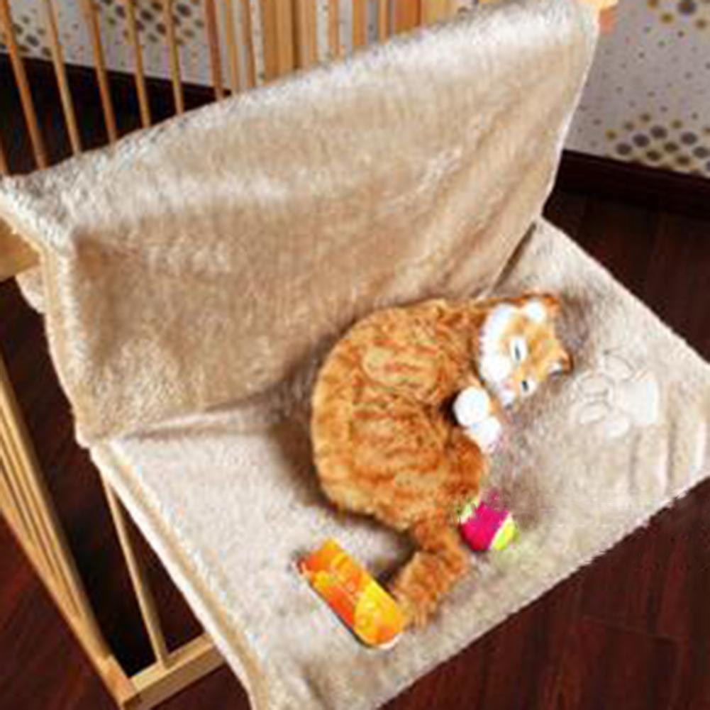 Goedhartig Asypets Creatieve Kat Hangmat Staal-frame Structuur Balkon Huisdier Opknoping Kussen Bed Rusten Seat-40 Rijk En Prachtig