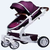 QD8 Mars High Landscape Multi Function 4 In 1 Baby Stroller With Shock Inflatable Tyre Summer