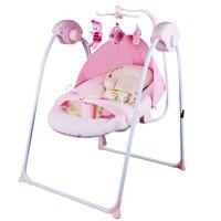 Детские Электрический кресло качалка утолщаются стальная рама высокой несущей детская кроватка предотвратить ребенка плевать молоко