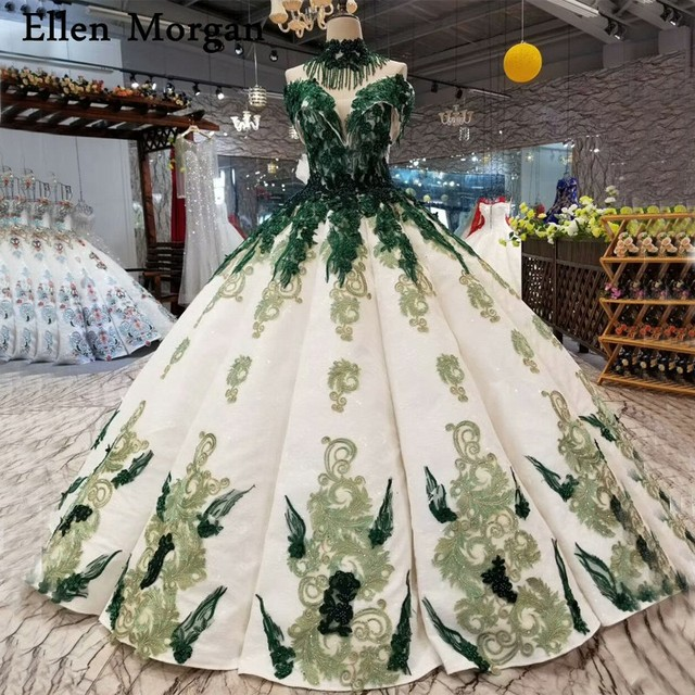 Sexy Off Shoulder Wedding Dresses for African Black Skin Girls Puffy Floor Length Lace up Pearls 3D Flowers Bridal Gowns