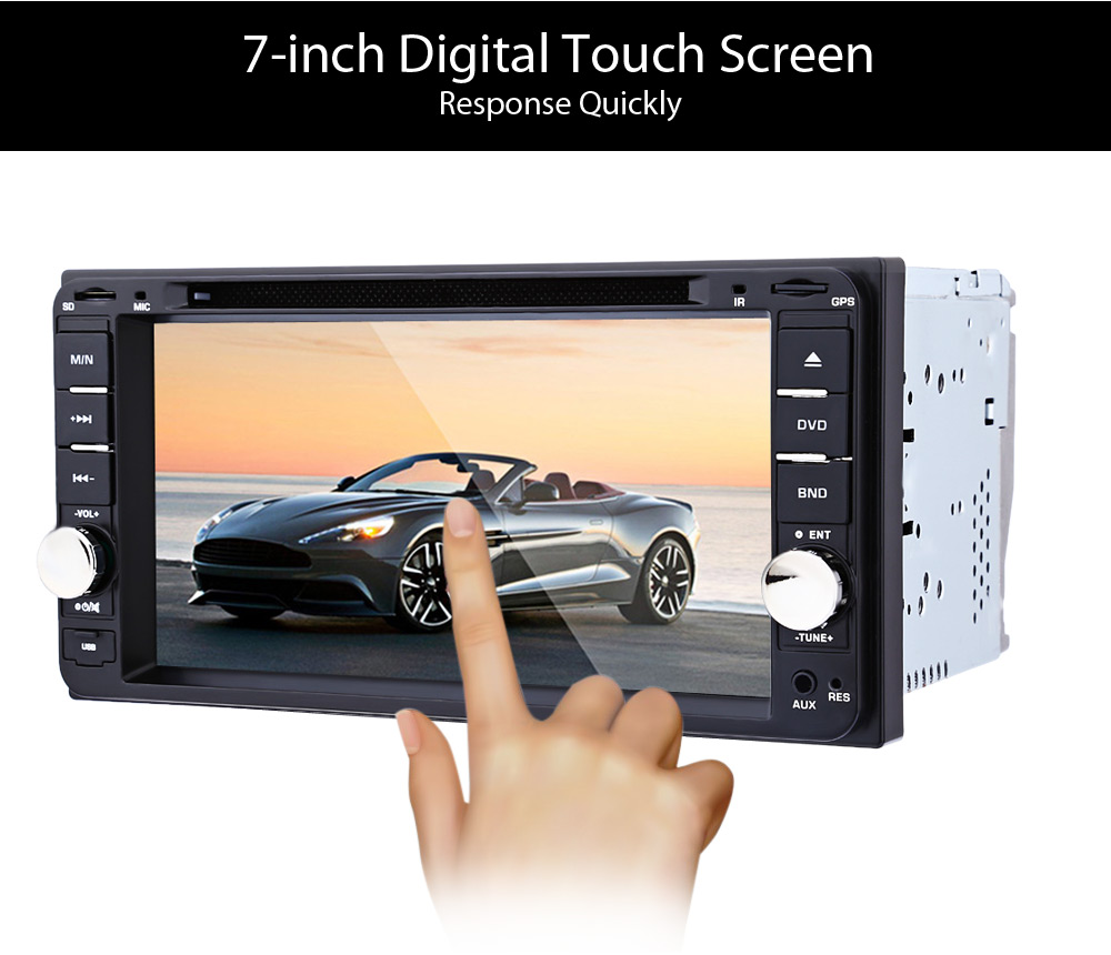 12V 2Din Car DVD CD Player 7 Inch Multimedia Video Player Auto Stereo Radio with GPS
