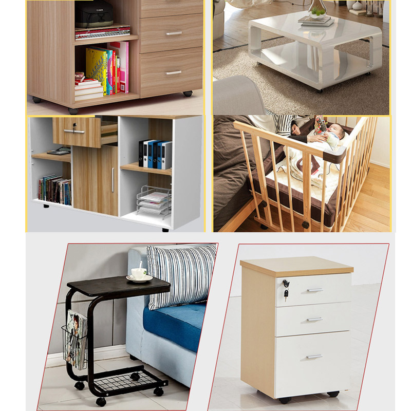 4 Teilesatz Industrielle Räder Schwenk Möbel Schrank Büro Stuhl