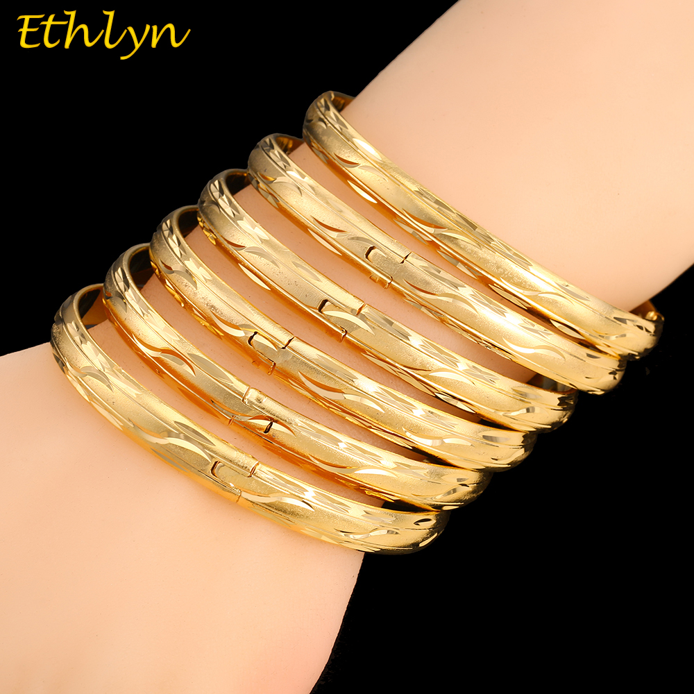 Ethlyn 6Piece/Lot Mauritius Light Weight Wedding Party Gold Color ...