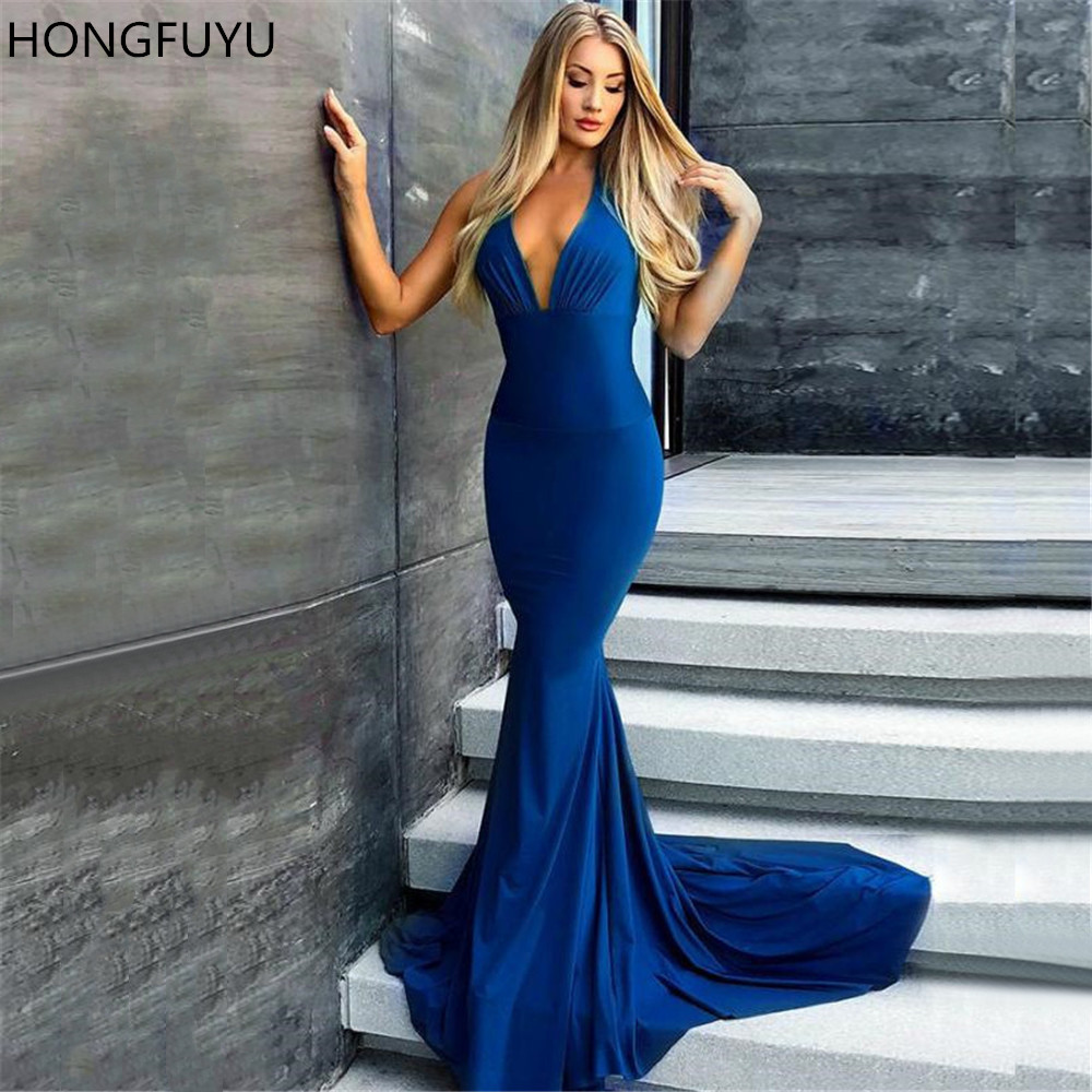 sweeping electric blue gown - 670×900
