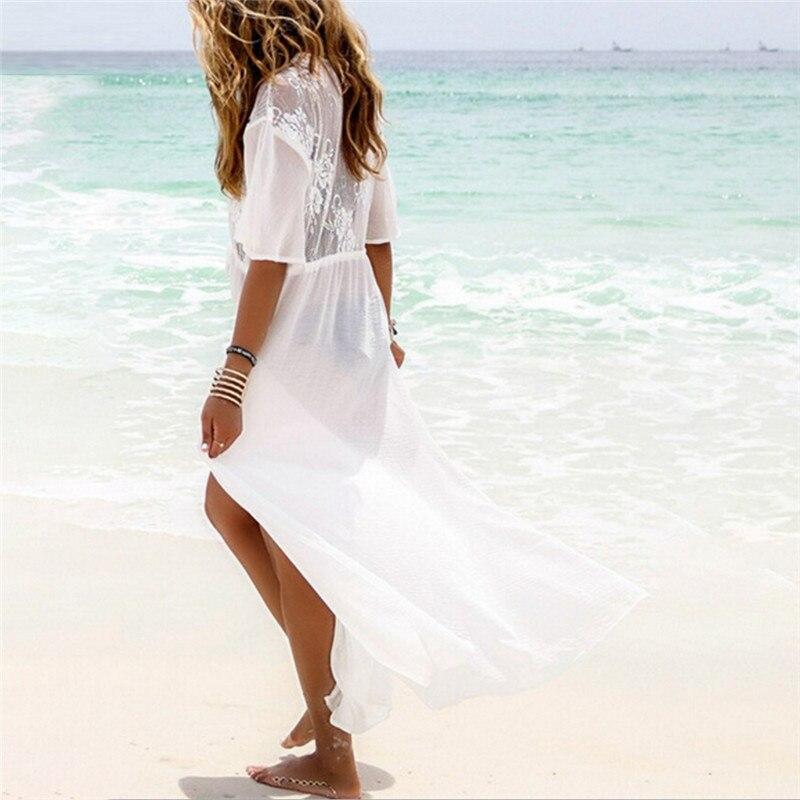 Pareo Beach Cover Up bordado 2018 nuevo Bikini cubrir traje De playa ...