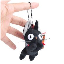 Miyazaki Hayao Anime Kiki s Delivery Service Kiki Cat Plush Stuffed Toy Jumping Model With Key