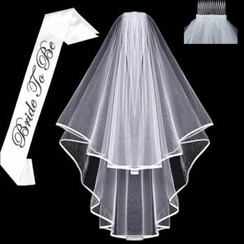 White short Bridal Wedding Veil