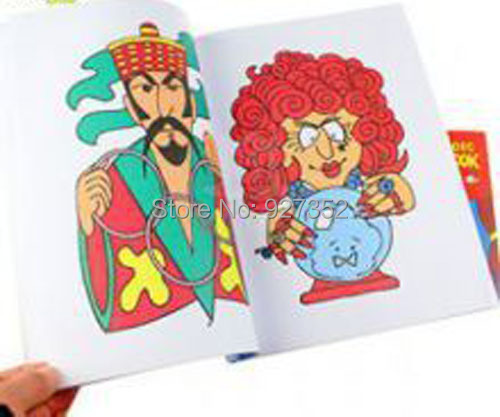 magic cartoon coloring book magic trick 100pcslotfor magic prop wholesale small size - Coloring Book Magic Trick