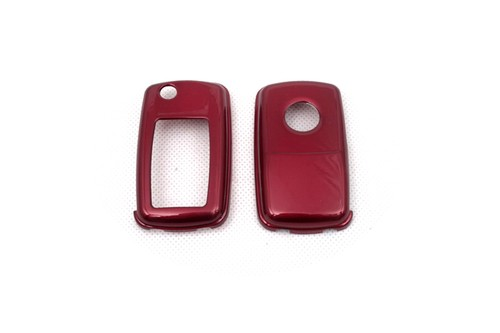 Жесткий Пластик БЕСКЛЮЧЕВОЙ дистанционный ключ защитный кожух(глянцевый металлический красный) для Фольксваген MK4/MK5
