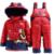 NOVO 2016 da criança conjuntos de roupas casaco de inverno jaqueta de pato para baixo conjuntos de calças-jaqueta com capuz bebê meninas jaqueta de inverno & casaco Pônei padrão