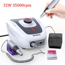 32W 35000RPM Pro Electric Nail Drill Machine Apparatus for Manicure Pedicure Files with Cutter Nail Art Drill Pen Machine Tools недорго, оригинальная цена